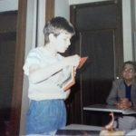 Siamo nel giugno 88 e questo è Pio agli esami - sullo sfondo si vede il prof Pierangelo