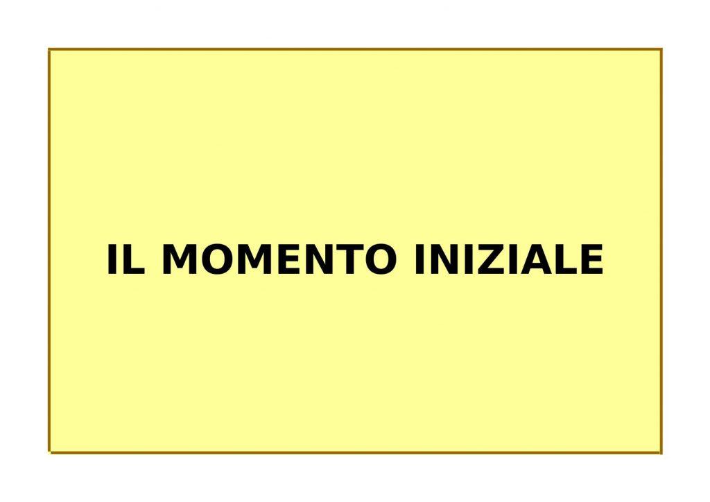MOMENTO INIZIALE MARZO 2021